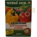 """Комплексное  минеральное  кристаллическое удобрение  ТМ """"Чистый Лист"""" для  помидоров и перца"""