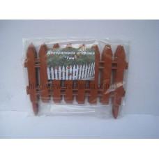 Декоративный заборчик из пластика (терра). Комплект из 7 секций