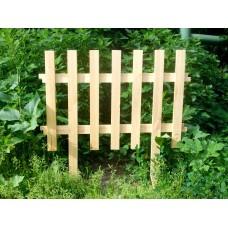 Декоративный заборчик из дерева (прямой)